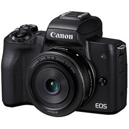 Canon EOS M50 With EF-M 15-45mm & EF-M 22mm Lenses Twin Kit - Black Thumbnail Image 10